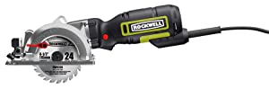 "Rockwell RK3441K 4-1/2"" Compact Circular Saw, 5 amps, 3500 rpm with Dust Port and Accessory Kit"