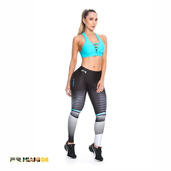 3c1ed5b16550e Fiber Activewear Leggings Womens Gym Workout Tights Pants Colombian Black