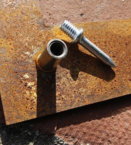 gelasert zum Anbringen an Gabionen bellissa Corten-Hausnummer 0-97330 Ziffer aus Cortenstahl 17 x 25 cm