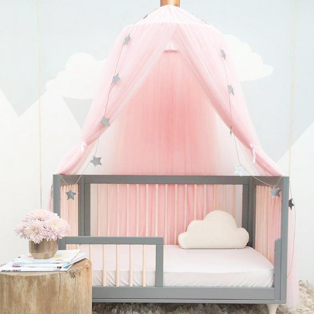 Wind-Susu Mosquito net Bed Set with Round lace Child Dome Fantasy Champion Net Curtains Play Play Tent Children's Bed Sky by Wind-Susu (Image #2)