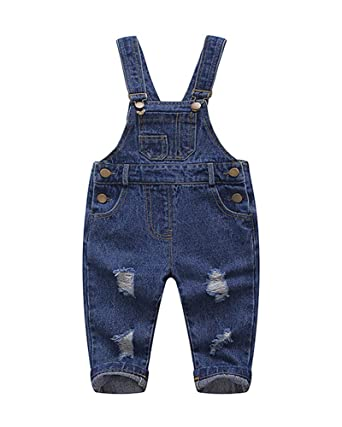 2ceb113220 Kinder Jungen Mädchen Jeans Latzhose Overall Jumpsuit: Amazon.de ...