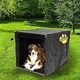 "Sofantex Heavy Duty High Quality Crate Cover Waterproof 3 Year Warranty, 30"" L x 19"" W x 21"" H, Black"