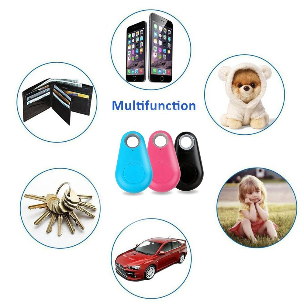 Smart Bluetooth Locator Wireless Tracker Anti-lost Alarm Finder for Key Wallet Car Kids Dog Cat Child Remote Camera with Voice Recording SmartPhone iOS Android (Smart Finder 3pack)