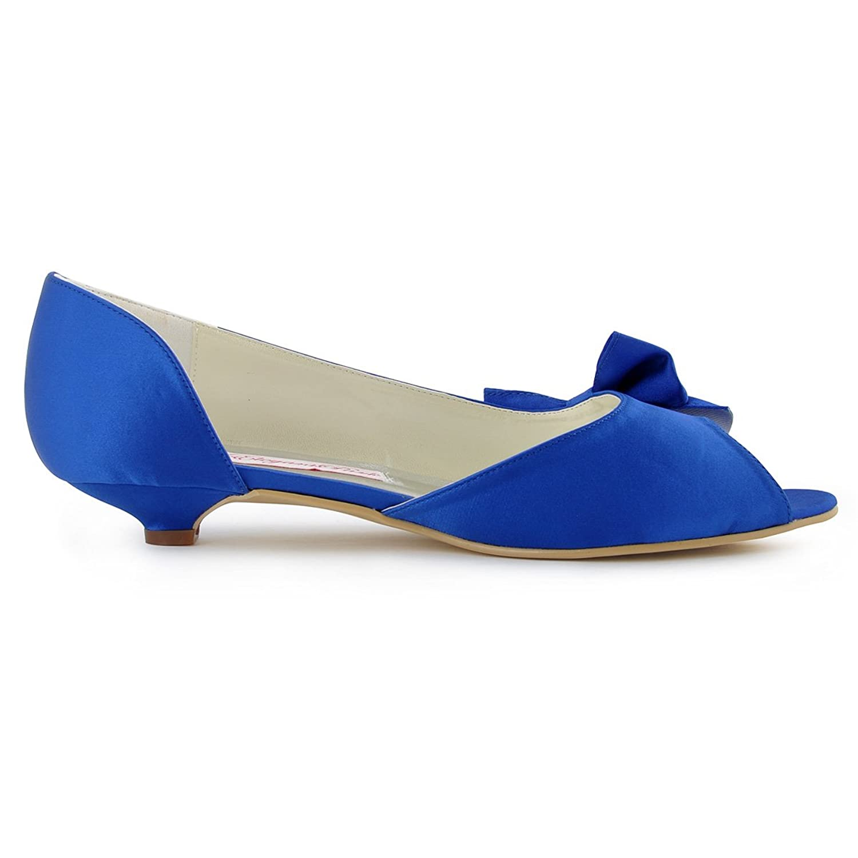 Amazon.com   ElegantPark Women WM 019 Peep Toe Low Heel Du0027orsay Bow Satin Wedding  Bridal Shoes   Fashion Sneakers