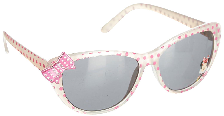 d0928f53fe51 Amazon.com: Disney Minnie Mouse Girls Cat Eye Bow Sunglasses One Size  White: Clothing