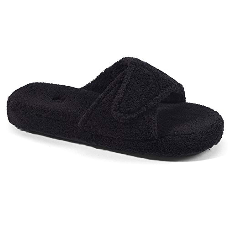 Acorn Women's Spa Slide II Slippers Black M Wide