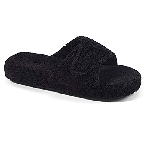f6f0827c1be Image Unavailable. Image not available for. Color  Acorn Women s Spa Slide  II Slippers Black ...