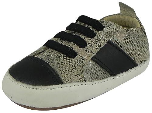 Old Soles Kid s Eazy Shine Soft Leather Slip On Crib Walker Sneaker Shoe 19  M EU 5fa0ddf5c