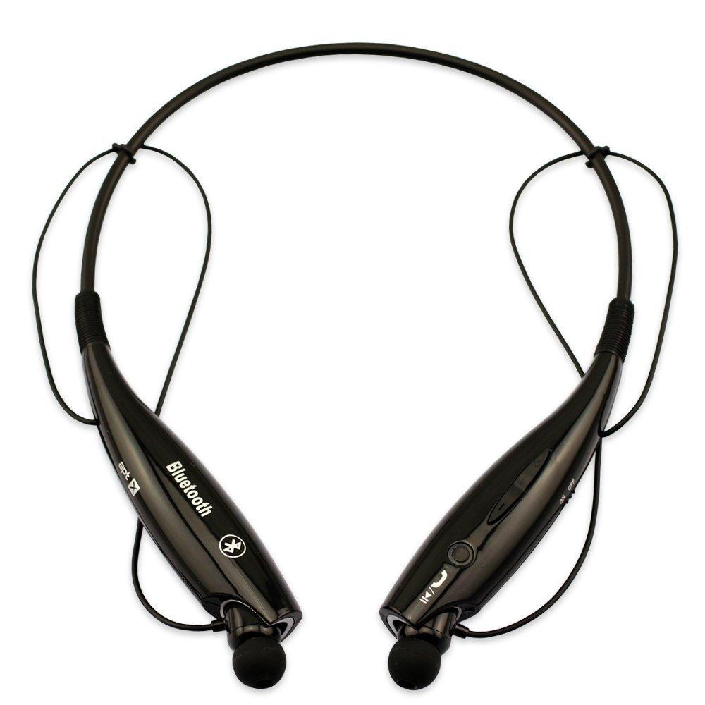 c63c2e6b131 Amazon.com: Generic Wireless Bluetooth Stereo Headset Headphone Neckband  Earbud Black: Cell Phones & Accessories