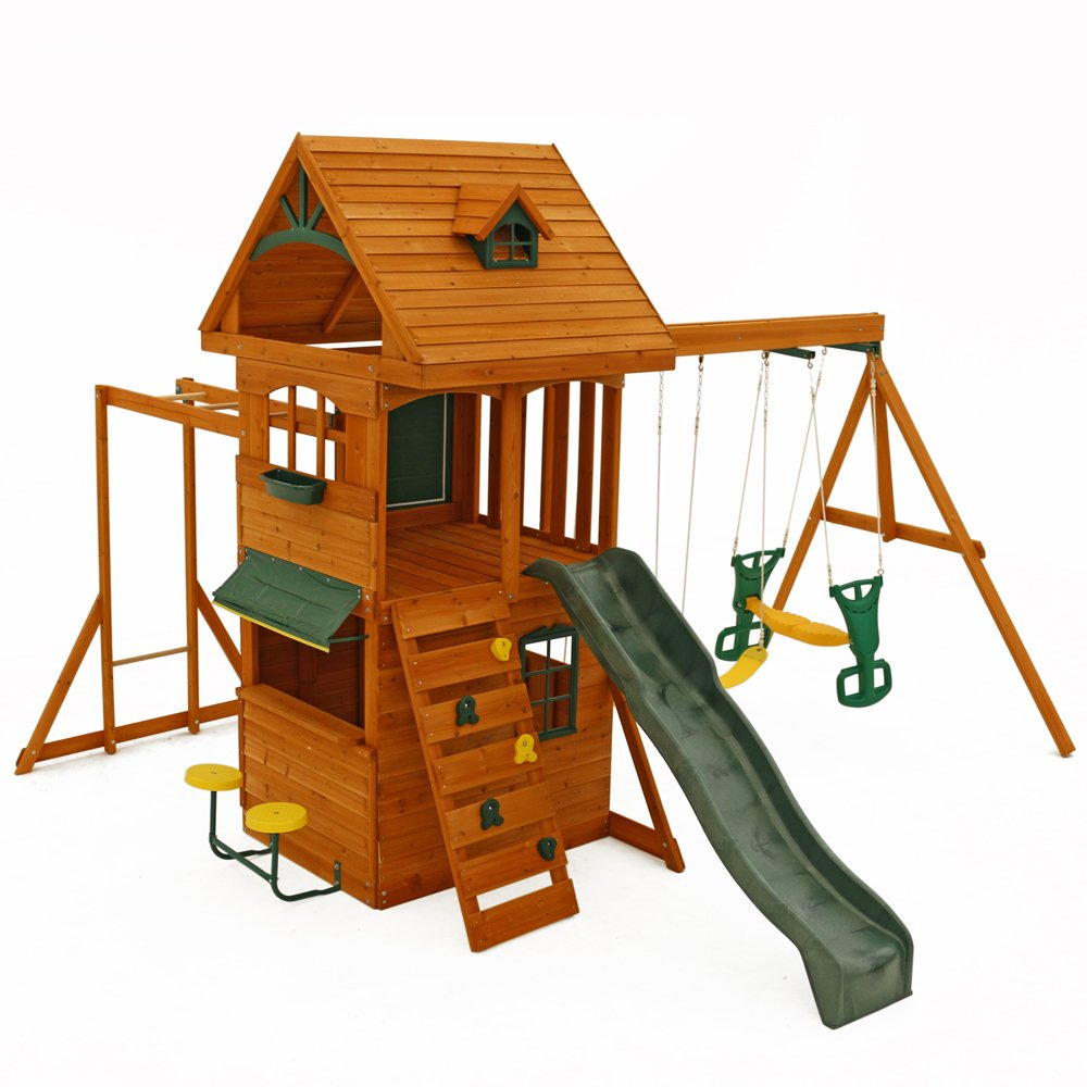 amazon com big backyard f270855 ridgeview clubhouse deluxe play