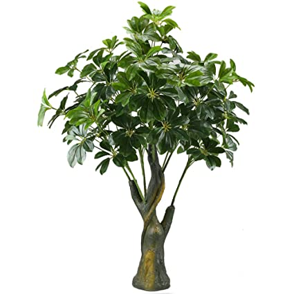 GTidea 3.3 Feet Artificial Fortune Tree Silk Plants Real Touch Soft Lush  Leaves Home Office Arrangements