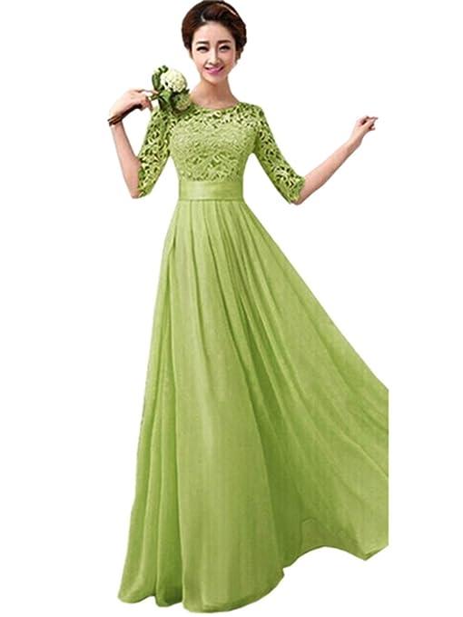 Para mujer de encaje con lazo y pedrería para vestido de dama de honor de novia