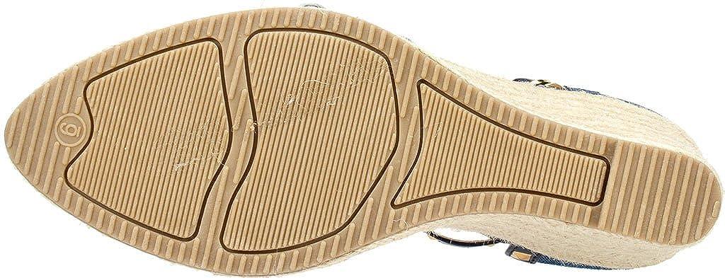 Rialto Keilabsätze Compari Textile Keilabsätze Rialto Sandale Dunkelblau b13a64