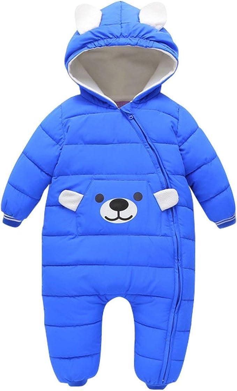 Baby Winter Overall Mit Kapuze Schneeanz/üge Daunen-Skianzug Strampler M/ädchen Jungen Winter Outfits f/ür 9-24 Monate