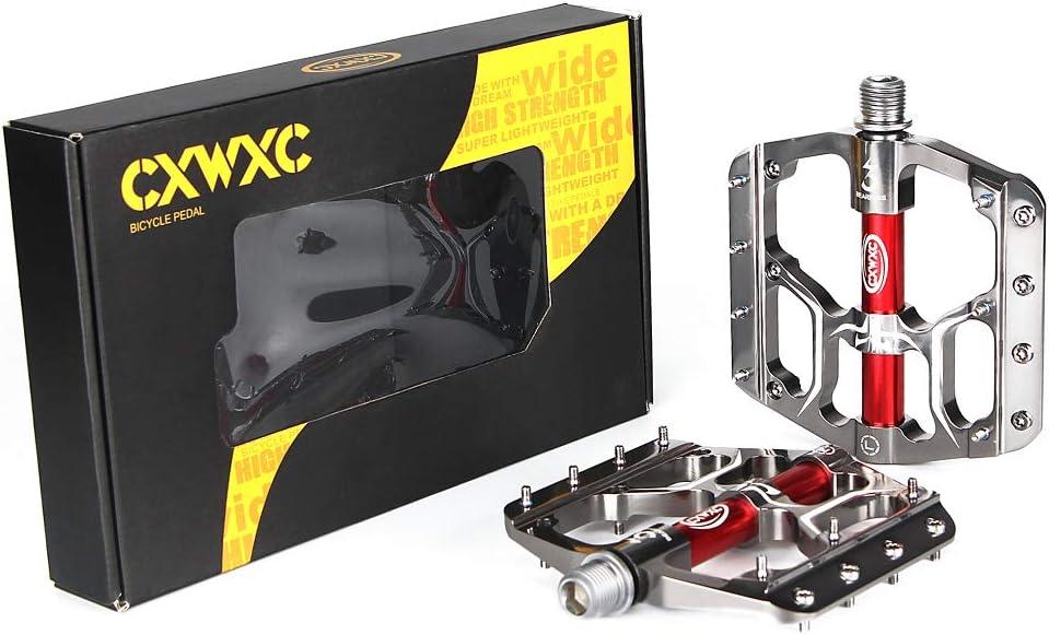 CXWXC Pedale Fahrrad MTB Pedal 9//16 ZollRutschfeste Fahrrad Pedal Mountainbikes Plattform Pedale Aluminiumlegierung Fl/äche 3 Abgedichtete L/äger f/ür MTB BMX Rennrad