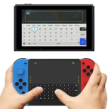 2cf9eb9a2bd Amazon.com: Wireless Keyboard for Switch Joy-Con, Joy-Con Grip with Keyboard  for Nintendo Switch, Joy-Con Charger: Beauty