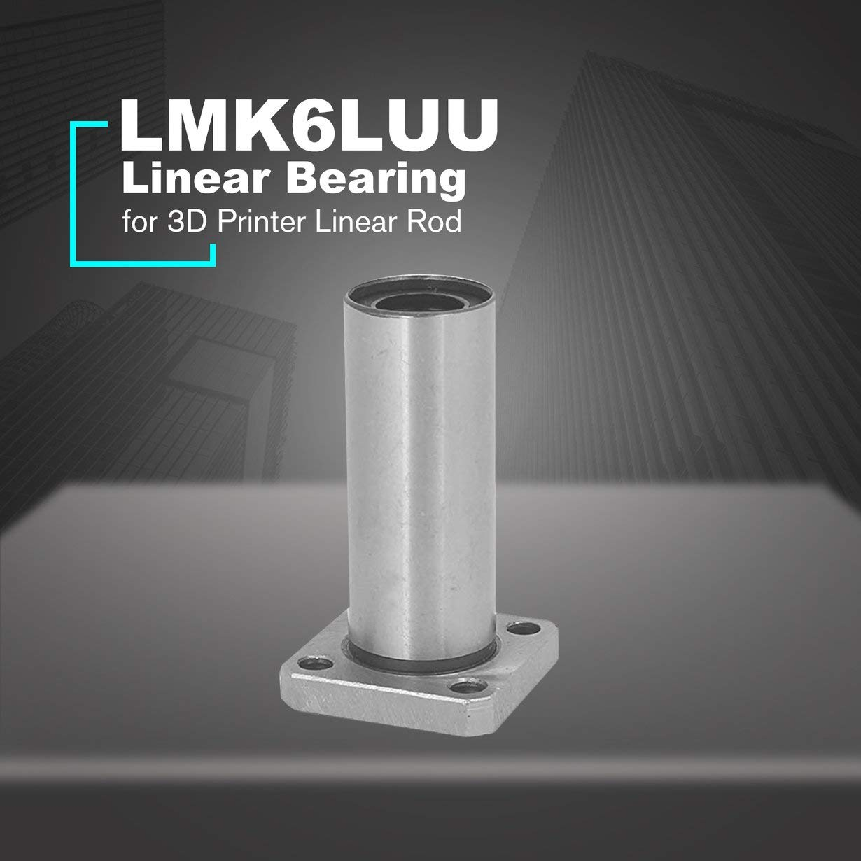1 UNID LMK6LUU Rodamiento Lineal de Brida Cuadrada Larga de 6 mm ...