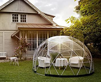 Garden igloo 360 dome with PVC Cover and Summer Canopy