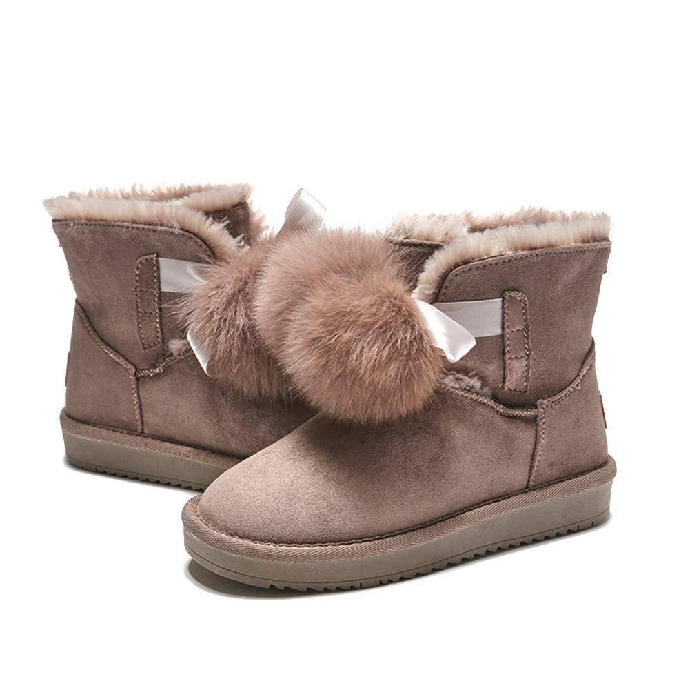Damen Rutschfest Schneestiefel Plus Plus Plus Samt Dick Warm Kurze Stiefel Wild Mit Flusen Stiefel Aus Baumwolle Winter Feuchtigkeitsfeste Stiefel f6b8f5