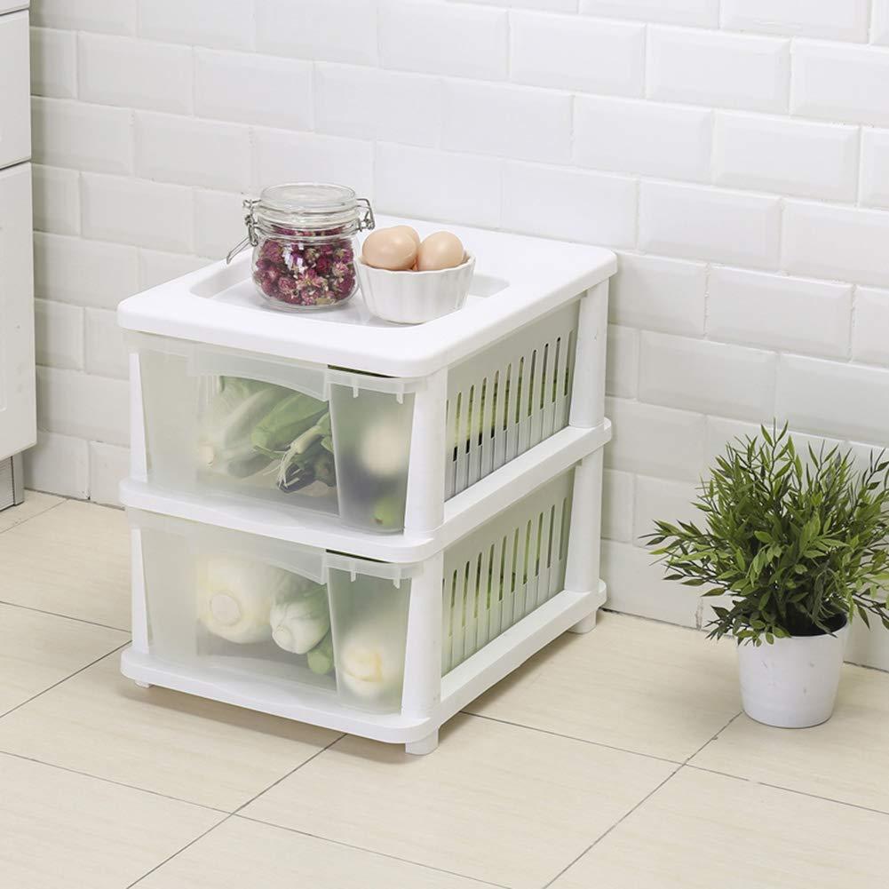 Drawer Type Multi-Layer Kitchen Rack, Fruit and Vegetable Plastic Storage Basket Toy Storage Basket, Kitchen Vegetable Storage Box by Kitchen shelf