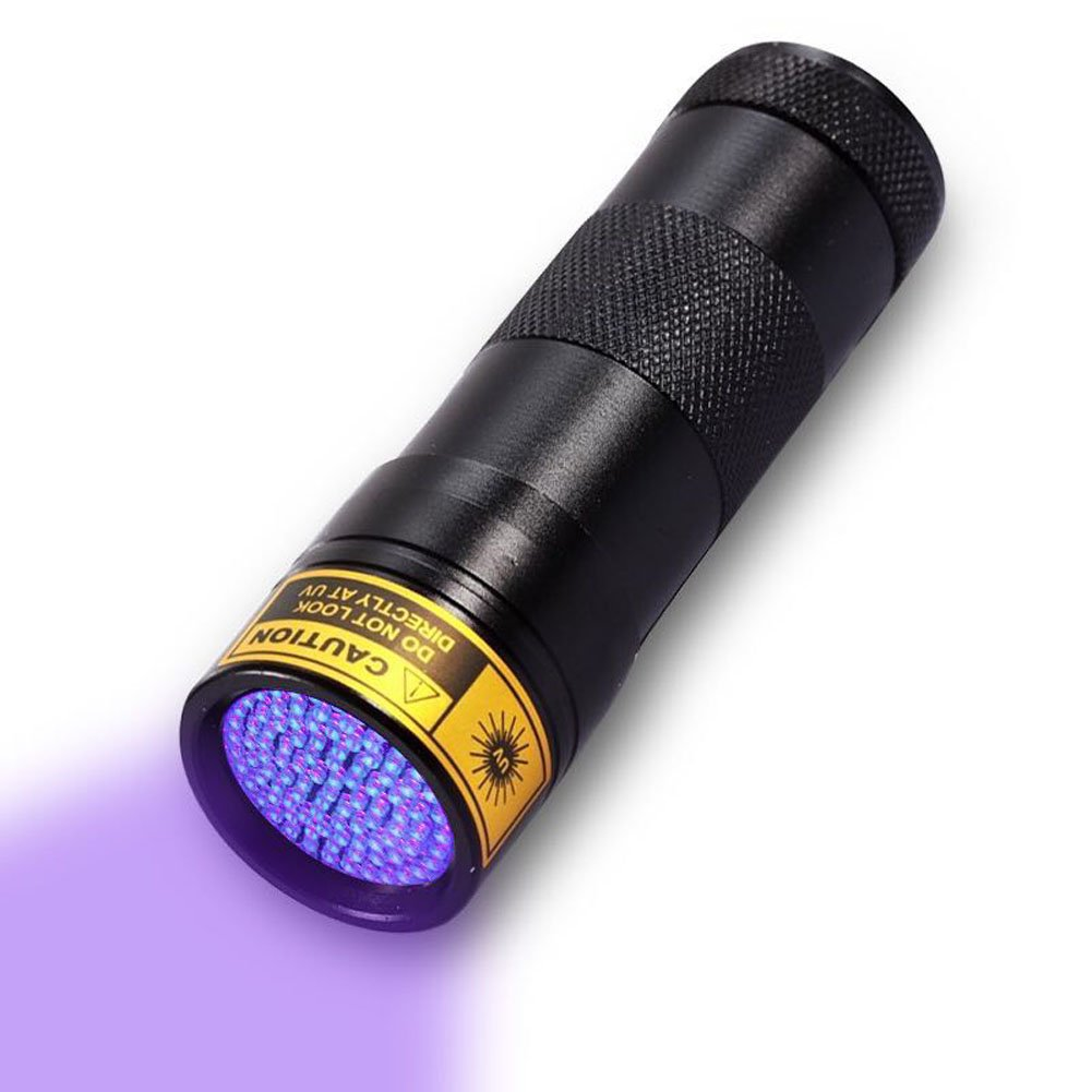 UV Flashlight,12 LED Ultra Violet Blacklight Urine and Scorpion Detector Torch to Find Stains on Carpet