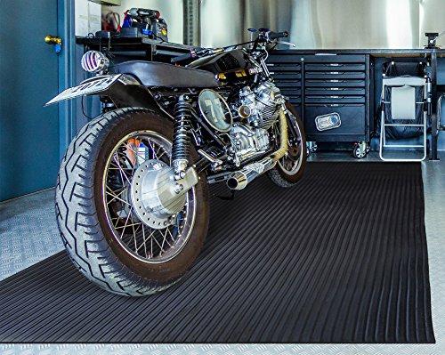 BDK GMT330 Black 8' x 4' FlexTough Mat-8 x 4 ft-Thick Heavy Duty Rubber Floor Protector for Garage, Shop, Parking, Patio, Entrance