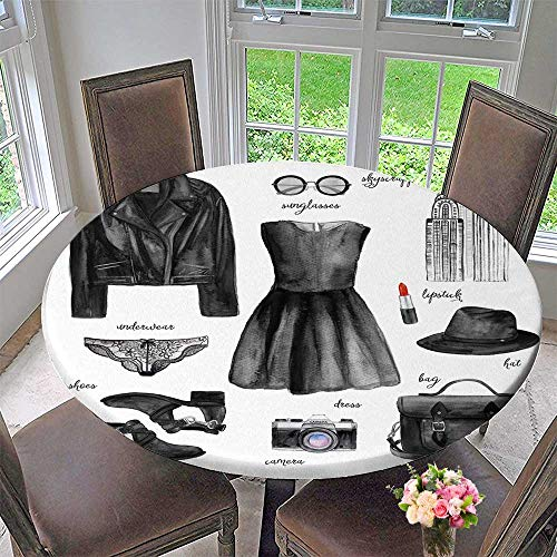 PINAFORE HOME Elasticized Table Cover Fashionable Outfit Machine Washable 55
