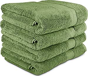 Utopia Towels 700 GSM Cotton 27-Inch-by-54-Inch  Bath Towel Set, Set of 4, Sage Green