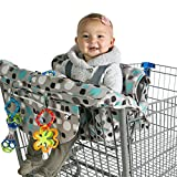 Kiddlets Grocery Shopping Cart Baby Seat Cover - Restaurant High Chair Insert Cushion Holder for Boys, Girls, Infants, Toddler