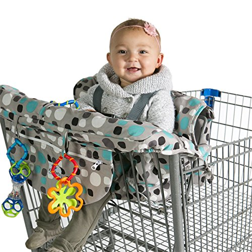 Kiddlets Grocery Shopping Cart Baby Seat Cover - Restaurant High Chair Insert Cushion Holder for Boys, Girls, Infants, Toddler ()