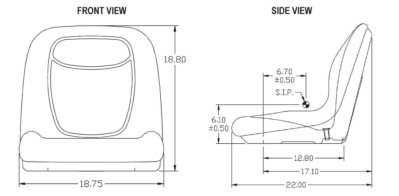 New Camo High Back Seat W Pivot Rod Bracket For John Deere Srx75 Wiring Diagram Lx172 Lx173 Lx176 By The Rop Shop Garden Outdoor