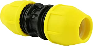 """Home-Flex Underground Yellow Poly Gas Pipe Coupler 1/2"""" Ips To Cts 1 Each"""
