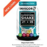 INVIGOR8 - Superfood Shake / Meal Replacement (100% Grass Fed Whey Protein), (French Vanilla) 645 Grams