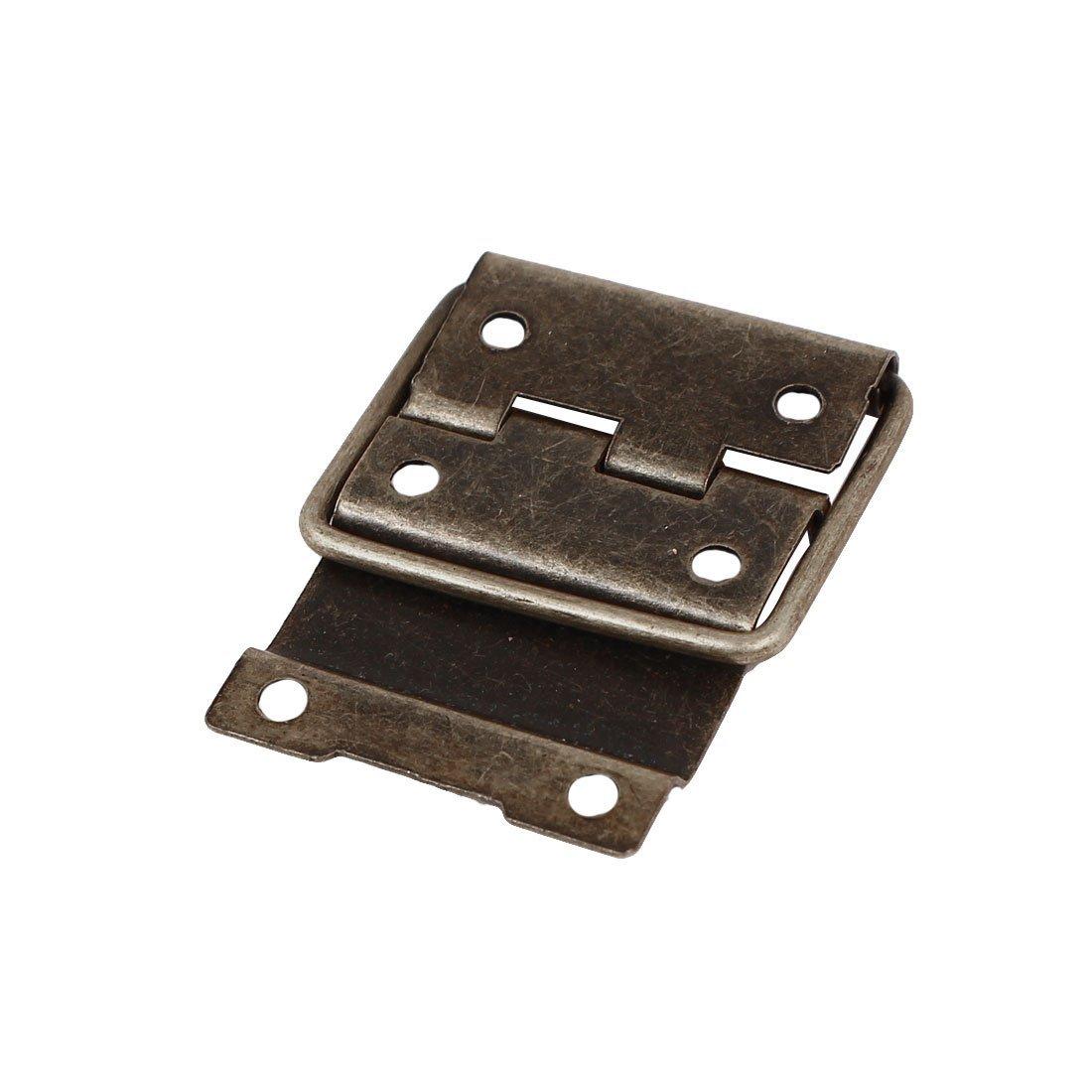 eDealMax della cassa della scatola Retro Style Posizionamento Supporto Cerniere tono del bronzo 44mmx30mm 20pcs