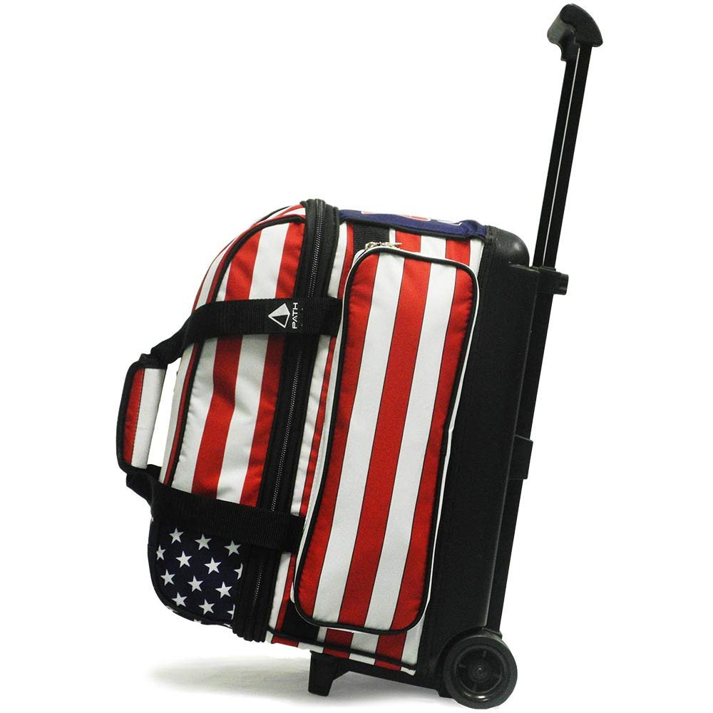 Pyramid Path Deluxe Double Roller with Oversized Accessory Pocket Bowling Bag (USA Flag) by Pyramid