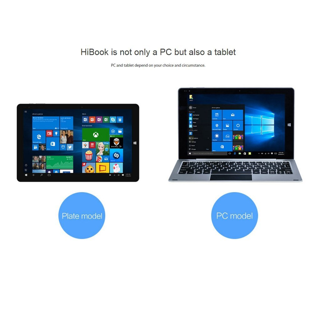CHUWI HI10 PRO タブレットPC Android 5.1/Windows 10 超薄 8.5mm クアッドコア 10.1