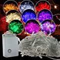 Autolizer 100 LED Fairy String Lights Lamp for Christmas Tree Holiday Wedding Party Xmas Decoration Halloween Showcase Displays Restaurant or Bar and Home Garden - IP54 Waterproof Resistant