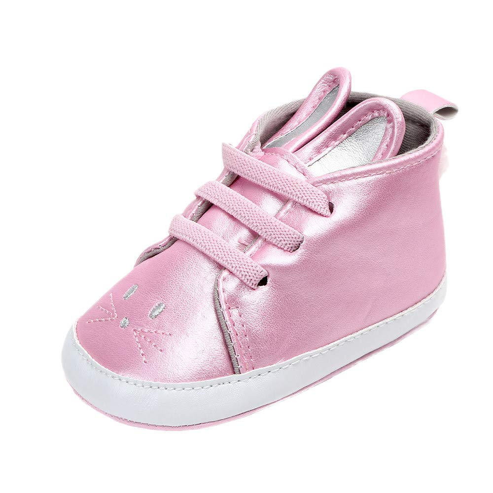 Lanhui Cute Rabbit Baby Girls Newborn Infant Baby Casual First Walkers Toddler Shoes Pink