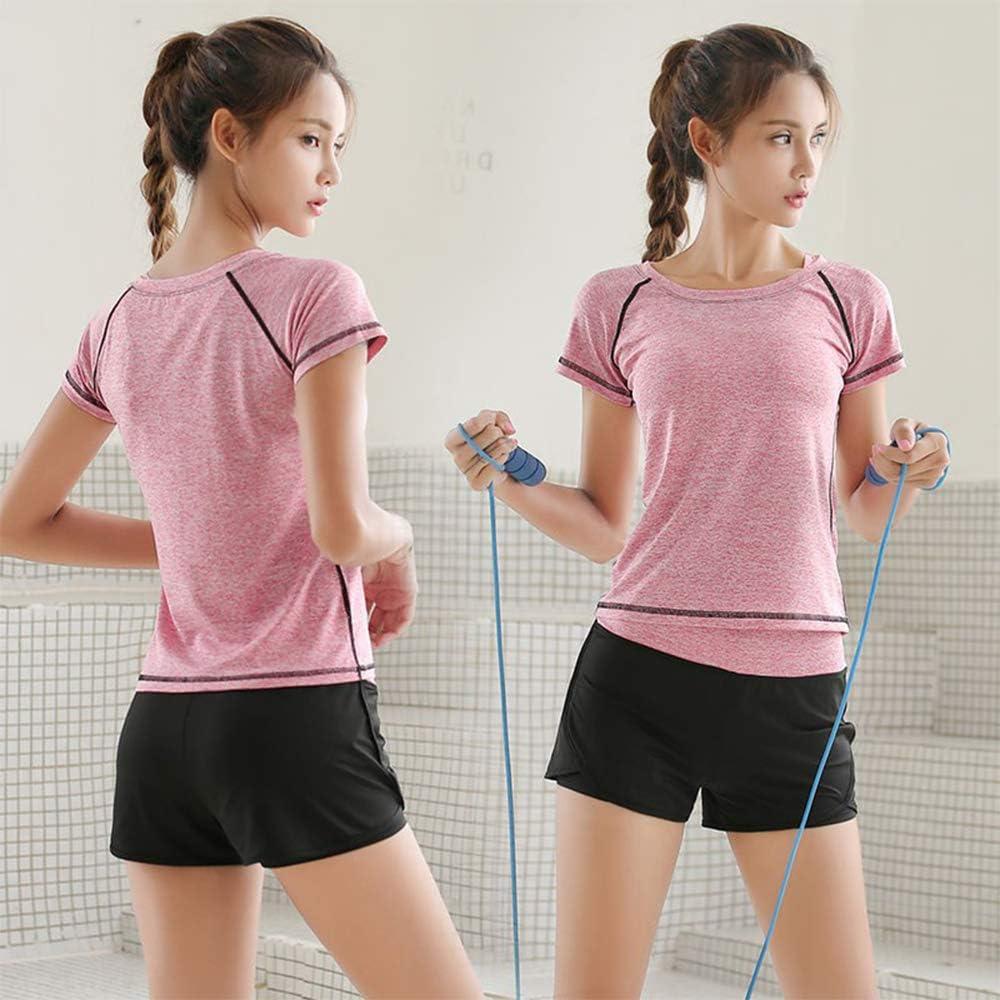 La Dearchuu EU 32-38 2 en 1 Femme Sportif Short Taille Haute Mince Short de Sport pour Jogging Yoga