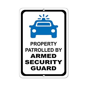 Cartel de seguridad de aluminio con diseño de guardia de ...