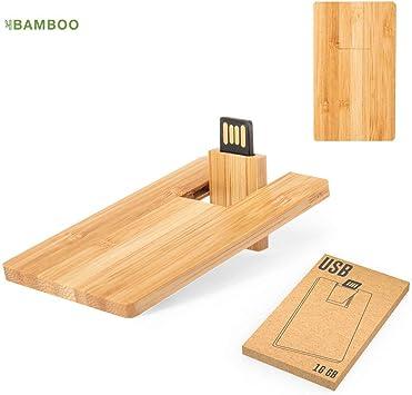 Lote 50 Memorias Pendrives Tarjetas USB Bambú Ecológicas con Caja Regalo: Amazon.es: Electrónica