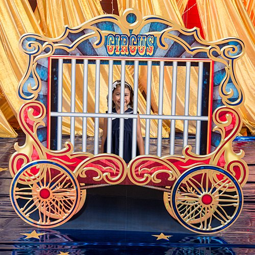 Vintage Circus Train Car Cutout Standup Photo Booth Prop Background Backdrop Party Decoration Decor Scene Setter Cardboard Cutout -