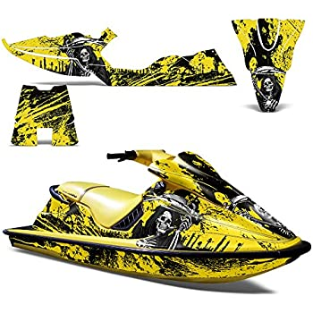 SeaDoo XP 1994 1996 Decal Graphic Kit Jet Ski Wrap Jetski Sea Doo DecoREAPER YELLOW
