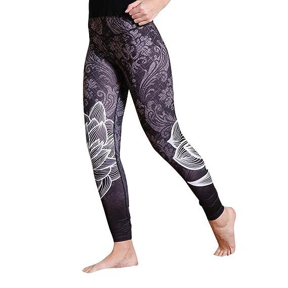 Pantalones Yoga Mujeres, ❤️Xinantime Polainas de Fitness de Yoga de Cintura Alta de Mujer