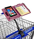 GalsShopper Pink - All In 1 Shopping Organizer, 1 Clip On Any Shopping Cart Handlebar,Holds Any Size Smart Phone/List/Coupons/Pen, HandsFree for Clothes,Shoes,Kids,Groceries/Compact In Handbag or Home