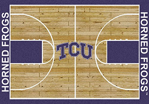 Milliken 4000018512 Texas Christian College Home Court Area Rug, 7'8'' x 10'9'' by Milliken