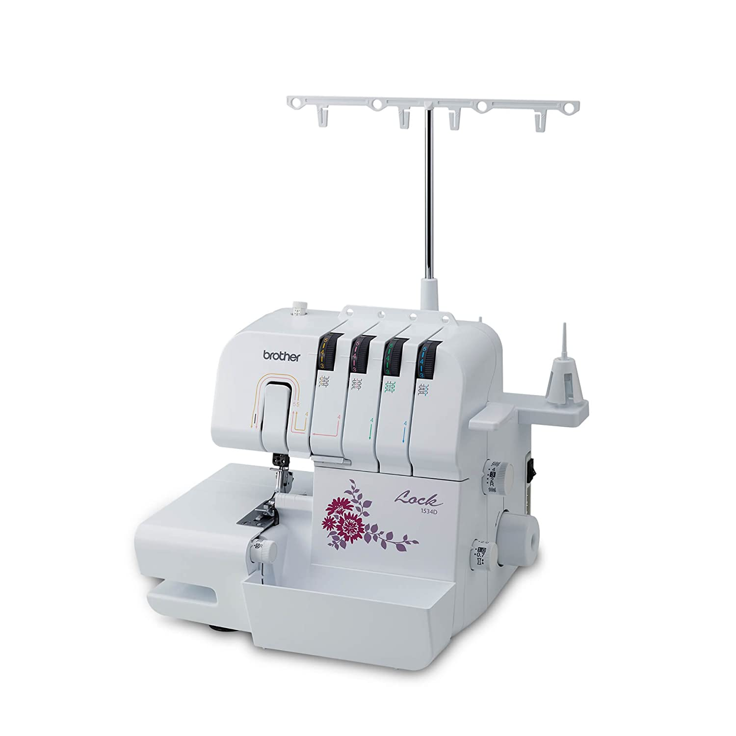 Brother 1534d Serger Small White Home Kitchen Kenmore Model 12 Sewing Machine Threading Diagram