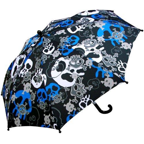 RainStoppers Boy's Skull Print Umbrella, 34-Inch (Skull Umbrella)
