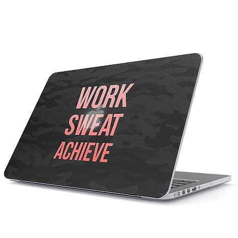Glitbit Funda para MacBook Air 13 3 Pulgadas, Modelo: A1466 / A1369 Work Sweat Achieve Hustle Grind Motivational Inspirational Quote Workout Fitness ...