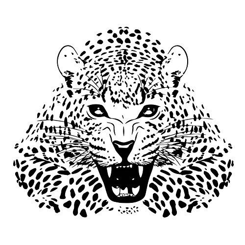 Fangeplus(R) DIY Removable Gift The Ferocious Leopard Hand Carved Art Mural Vinyl Waterproof Wall Stickers Kids Room Decor Nursery Decal Sticker ()